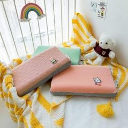 泰国天然儿童乳胶枕芯 1-3-8岁学生儿童乳胶针织呆萌乳胶枕