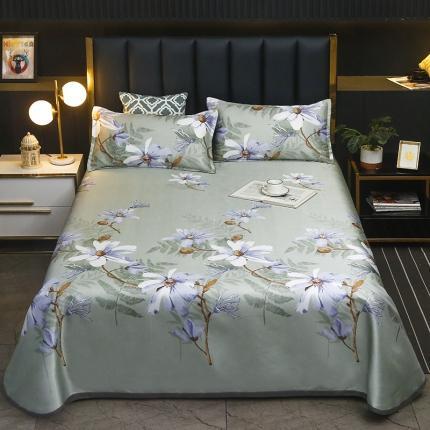 卡斯诺 2021新款床单款冰丝凉席三件套 幽香梦境