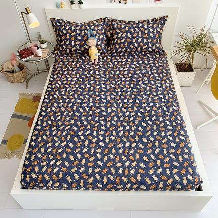 (总)乐童家纺 13070全棉喷气斜纹爆款单床笠-实拍图