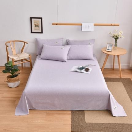 21度C 2021新款彩棉单床单 香芋紫