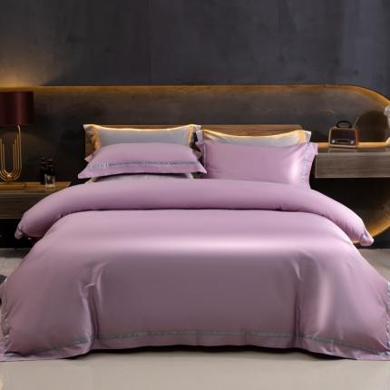 丹尔妮2021100支全棉长绒棉轻奢华尔兹四件套纯棉华尔兹紫