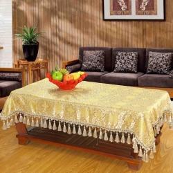 仿古丝绸挂穗桌布 绸缎织锦缎台布 红木桌子台布