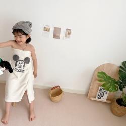 (总)Boner婴童床品  ɴᴇᴡ糖果色亲子浴裙+干发帽