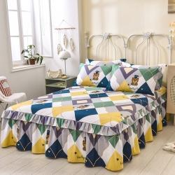 (总)七仙女 2021新款13070全棉印花单床裙
