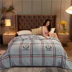 诚雨加厚高克重云貂绒毛毯350克法莱绒珊瑚绒毛毯多功能盖毯 北欧印象