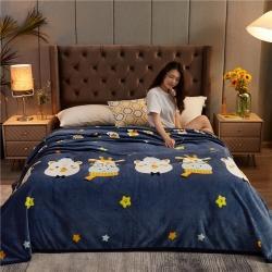诚雨加厚高克重云貂绒毛毯350克法莱绒珊瑚绒毛毯多功能盖毯 动物园