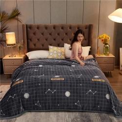 诚雨加厚高克重云貂绒毛毯350克法莱绒珊瑚绒毛毯多功能盖毯 快乐星球
