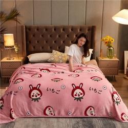 诚雨加厚高克重云貂绒毛毯350克法莱绒珊瑚绒毛毯多功能盖毯 甜蜜