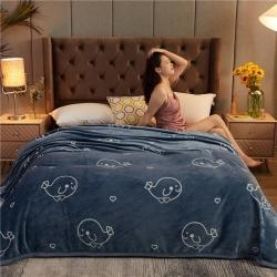 诚雨加厚高克重云貂绒毛毯350克法莱绒珊瑚绒毛毯多功能盖毯 余生