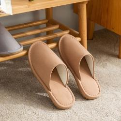 日式无印家居拖鞋良品全棉四季拖鞋布艺防水静音拖鞋地板单拖鞋