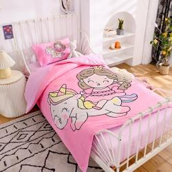 (总)萌宝家纺A类无荧光儿童针织棉被套幼儿园三件套被子6件套