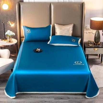 (总)悦彤21冰丝凉席三件套床单款细腻柔软天丝提花凉席套件