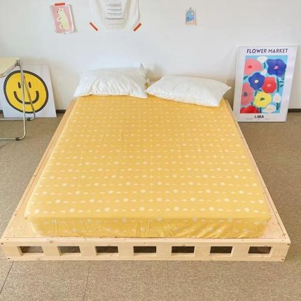 四方米 2021新款40支13372全棉单品床笠 小团圆