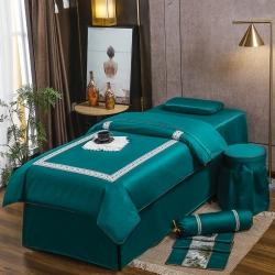 (总)纤晴家纺2021美容床罩四件套简约轻奢美容院专用床套