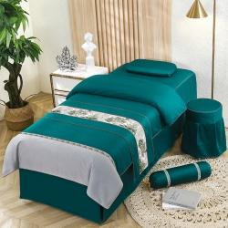 (总)纤晴家纺 2021美容床罩四件套简约轻奢美容院专用床套