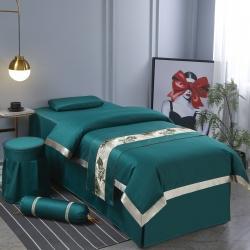 (总)纤晴家纺 2021新款华夫格纯棉美容床罩