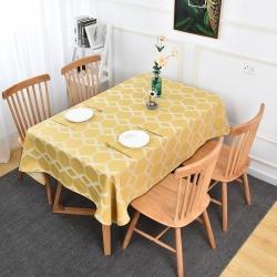(总)棉麻家居抱枕 2021新款加厚棉麻提花菱形桌布