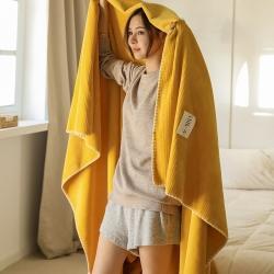 (总)艾尔眠 2021牛奶绒双层A类复合毯华夫格毛毯绒毯