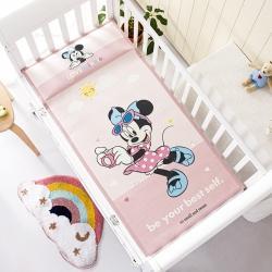允泰乳胶新款迪士尼婴儿凉席宝宝透气冰丝童席fashion米妮