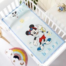 允泰乳胶2021新款迪士尼婴儿凉席宝宝透气冰丝童席冰激凌米奇