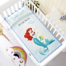 允泰乳胶2021新款迪士尼婴儿凉席宝宝透气冰丝童席美人鱼公主