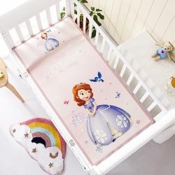 允泰乳胶2021新款迪士尼婴儿凉席宝宝透气冰丝童席苏菲亚公主