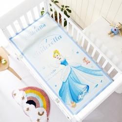 允泰乳胶 2021新款迪士尼婴儿凉席宝宝透气冰丝童席仙蒂公主
