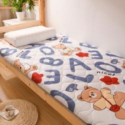 (总)金圣伦 2021新款加厚印花学生床垫(双面绗绣款)