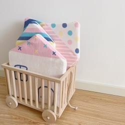 Boner婴童床品 2021新款ins北欧小房子床围 彩色小房子