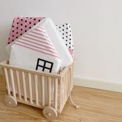 Boner婴童床品 2021新款ins北欧小房子床围 粉色小房子