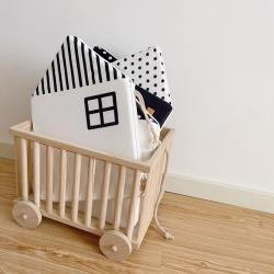 Boner婴童床品 2021新款ins北欧小房子床围 黑色小房子