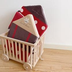 Boner婴童床品 2021新款ins北欧小房子床围 红色波点
