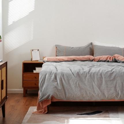 子和家居 2021新款麻理棉嵌条四件套 灰色