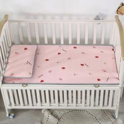 富馨莱 2021新款儿童乳胶凉席 恋爱草莓-粉