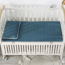 富馨莱 2021新款儿童乳胶凉席 松石蓝