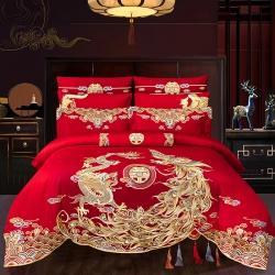 (总)蒂爵2021新款120支双面新疆长绒棉工艺款婚庆多件套