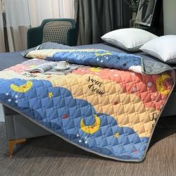 (总)索弗莱 2021新款全棉印花床垫加厚床褥子