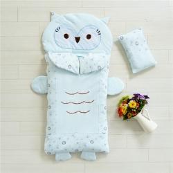 (总)铭轩 2021新款针织儿童睡袋猫头鹰