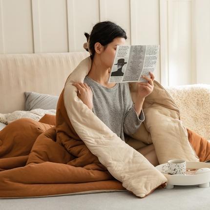(总)寐眠 2021新款针织棉纯色春秋被冬被
