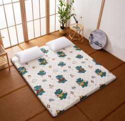 防水防潮榻榻米床垫软垫折叠地铺睡垫懒人床地垫家用垫子 小恐龙