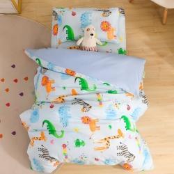 (总)小脚丫纯棉幼儿园被套全棉儿童被子6件套宝宝入园床品套件