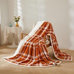 (总)如艺 2021新款双面复合提花毛毯