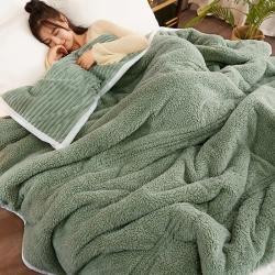 (总)蓝极人 2021新款多功能毯子盖毯魔法绒三层毛毯