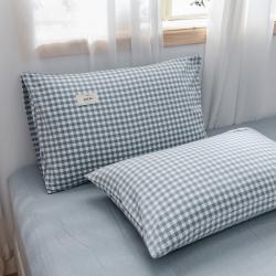 (总)恋人优选 2021新款全棉水洗棉单枕套一对