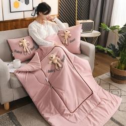 (总)雷娜 2021新款四季款立体小熊抱枕被