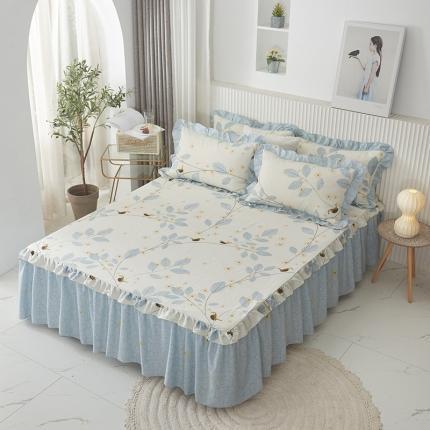 (总)爱妮玖玖 单品床罩类2-1:全棉韩式单品单层床罩