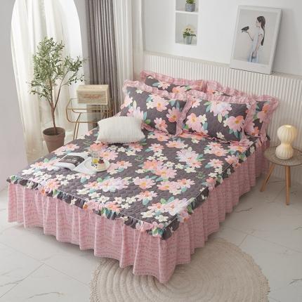 (总)爱妮玖玖 单品床罩类2-2:全棉韩式夹棉床罩