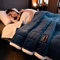 (总)易尚轩-加厚三层夹棉牛奶绒毯贝贝绒毯午睡法莱绒毛毯盖毯