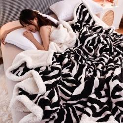 (总)紫苏家纺 2021新款雪花绒羊羔绒毛毯