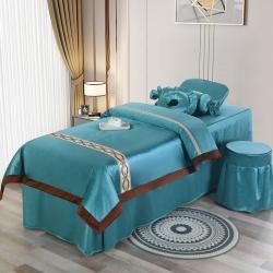 总-美容床罩四件套按摩推拿床罩欧式小奢华美容院专用美容床罩套